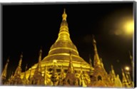 Shwedagon Pagoda at Night, Yangon, Myanmar Fine-Art Print