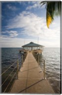 Seychelles, Anse Bois de Rose, Coco de Mer Hotel pier Fine-Art Print