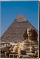 Sphinx and Pyramid, Giza, Egypt Fine-Art Print