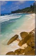 Tropical Beach, La Digue Island, Seychelles, Africa Fine-Art Print