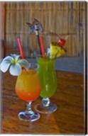 Tropical cocktails, Fregate Resort island, Seychelles Fine-Art Print