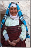 Tunisia, Ksour Area, Matmata, older Berber woman Fine-Art Print