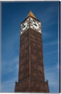 Tunisia, Tunis, Avenue Habib Bourguiba, Clock tower Fine-Art Print