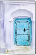 Traditional Moorish-styled Blue Door, Morocco Fine-Art Print