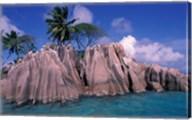 Tropical Shoreline of St Pierre Islet, Seychelles Fine-Art Print