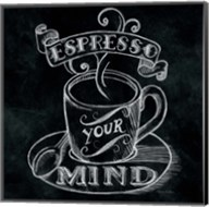 Espresso Your Mind  No Border Square Fine-Art Print