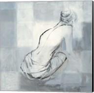 Nude Figure Study on Gray I Fine-Art Print