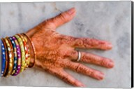 Henna Design on Woman's Hands, Delhi, India Fine-Art Print
