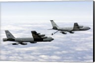 A B-52H Stratofortress refuels with a KC-135R Stratotanker Fine-Art Print