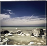 Big boulders in the sea, Liselund Slotspark, Denmark Fine-Art Print