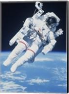 AstronautTaking a Spacewalk Fine-Art Print