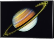 Saturn Taken By Voyager 2 From A Distance of 27 Million Miles Fine-Art Print