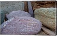 Prayer stones, Ladakh, India Fine-Art Print
