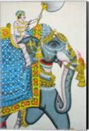 Elephant mural, Mahendra Prakash hotel, Udaipur, Rajasthan, India. Fine-Art Print