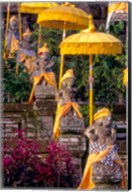 Statues at Mother Temple Adorned in Yellow, Indonesia Fine-Art Print