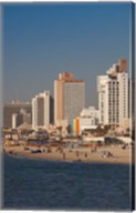 Israel, Tel Aviv, beachfront hotels, late afternoon Fine-Art Print