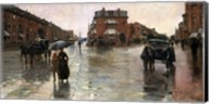 Rainy Day, Boston, 1885 Fine-Art Print