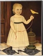 Girl with Bird Fine-Art Print