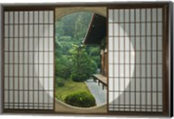 Tea House Window, Sesshuji Temple, Kyoto, Japan Fine-Art Print