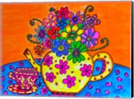 Tea Pot Of Flowers Fine-Art Print