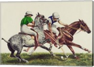 Polo - two horses Fine-Art Print