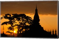 Asia, Laos, Vientiane That Luang Temple, sunrise Fine-Art Print