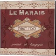 Burgundy Wine Labels I Fine-Art Print