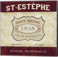 Burgundy Wine Labels III Fine-Art Print