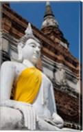 Close up of Buddha statue, Ayutthaya, Thailand Fine-Art Print