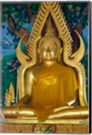 Thailand, Ko Samui, Golden Buddha, Prayer House Fine-Art Print