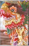 Thailand, Bangkok Dragon in chinese temple Fine-Art Print