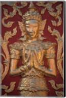 Gold Leafed Deatil at Wat Doi Suthep, Chiang Mai, Thailand Fine-Art Print