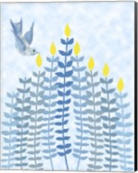 Bird Hanukkah Candles Fine-Art Print