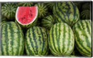 UAE, Abu Dhabi Watermelon at the market Fine-Art Print