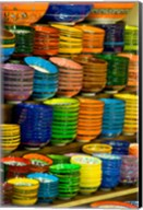 Bowls and Plates on Display, For Sale at Vendors Booth, Spice Market, Istanbul, Turkey Fine-Art Print