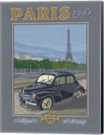 Paris 1961, 4CV Fine-Art Print