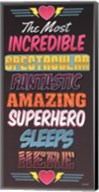 Superhero Sleeps Here Fine-Art Print