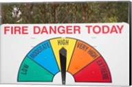 Fire Danger Warning Sign, Queensland, Australia Fine-Art Print