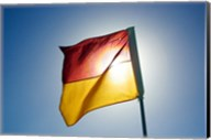 Surf Lifesaving Flag, Queensland, Australia Fine-Art Print