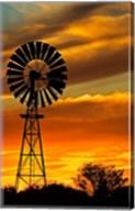 Windmill, Oodnadatta Track, Outback, Australia Fine-Art Print