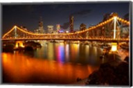 Australia, Queensland, Story Bridge, Brisbane River Fine-Art Print