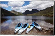 Kayaks, Cradle Mountain and Dove Lake, Western Tasmania, Australia Fine-Art Print