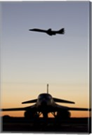 B-1B Lancer Takes Off at Sunset from Dyess Air Force Base, Texas Fine-Art Print