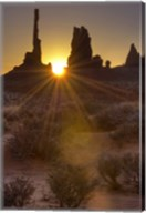 Sunburst through the Totem Polein Monument Valley, Utah Fine-Art Print