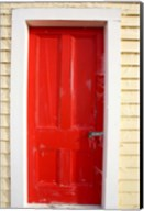 Red Door, Sutton Railway Station, Otago, South Island, New Zealand Fine-Art Print