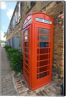 Red Telephone box, Nelson's Dockyard, Antigua Fine-Art Print