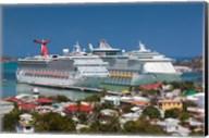 Antigua, St Johns, Heritage Quay, Cruise ship area Fine-Art Print