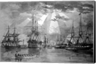 US Naval Ships during the Civil War Fine-Art Print