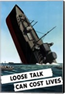 Loose Talk Can Cost Lives Fine-Art Print