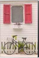 Beach House and Bicycle, Loyalist Cays, Bahamas, Caribbean Fine-Art Print